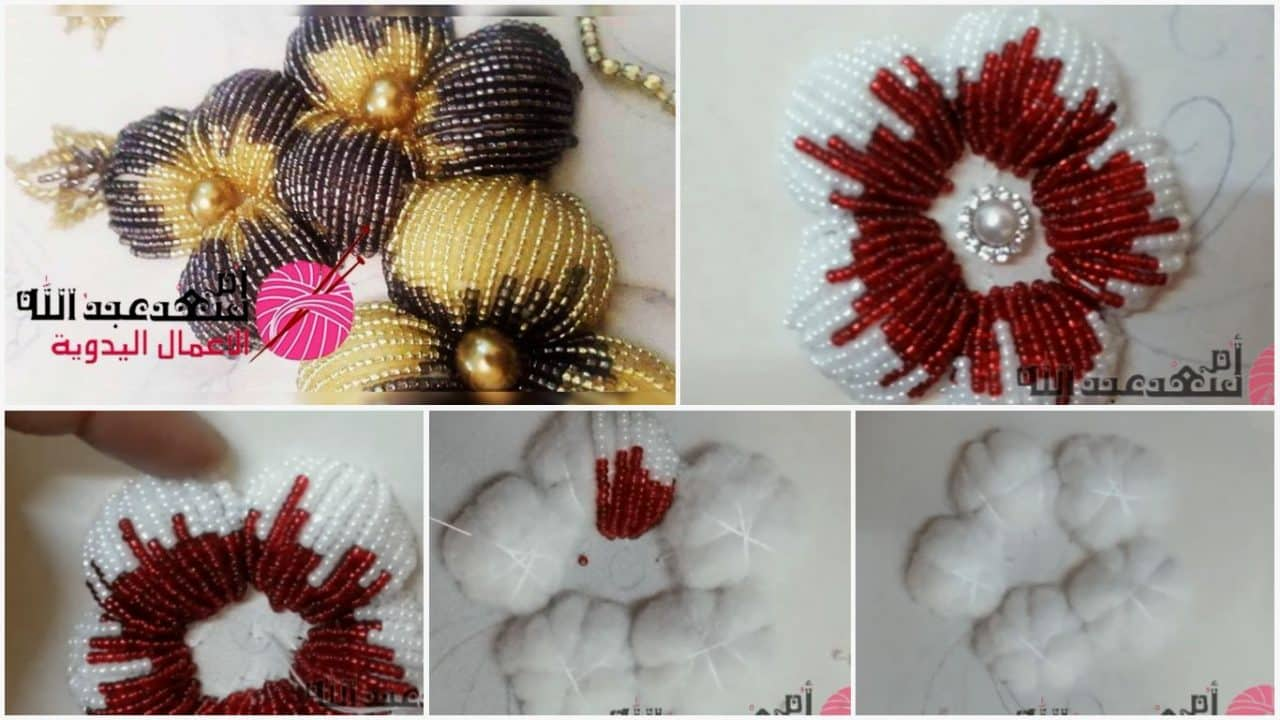 How to do puff flower embroidery