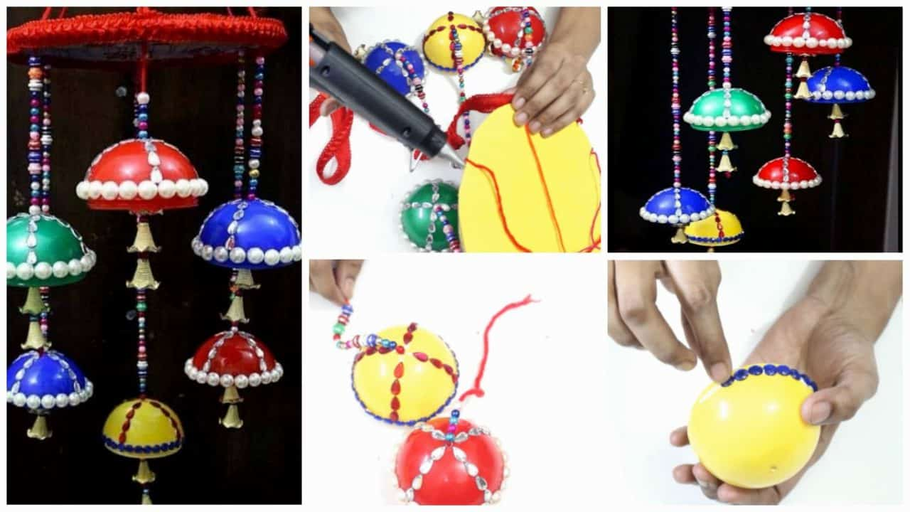 How to make wind chime from plastic balls