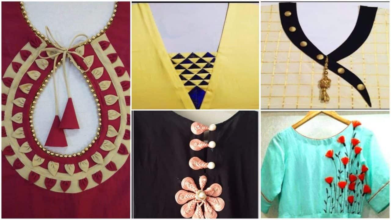 Kurta Neck Designs Cutting And Stitching Simple Craft Ideas