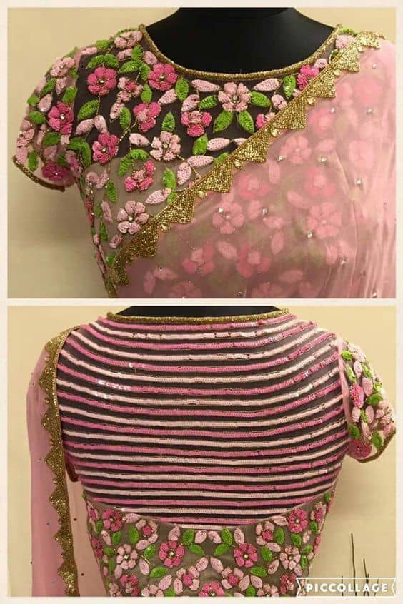 Latest Back Neck Blouse Designs and Pattern Catalogue There are couple of such neck area designs which are evergreen similar to Ushape Vshape profound back dori and so forth