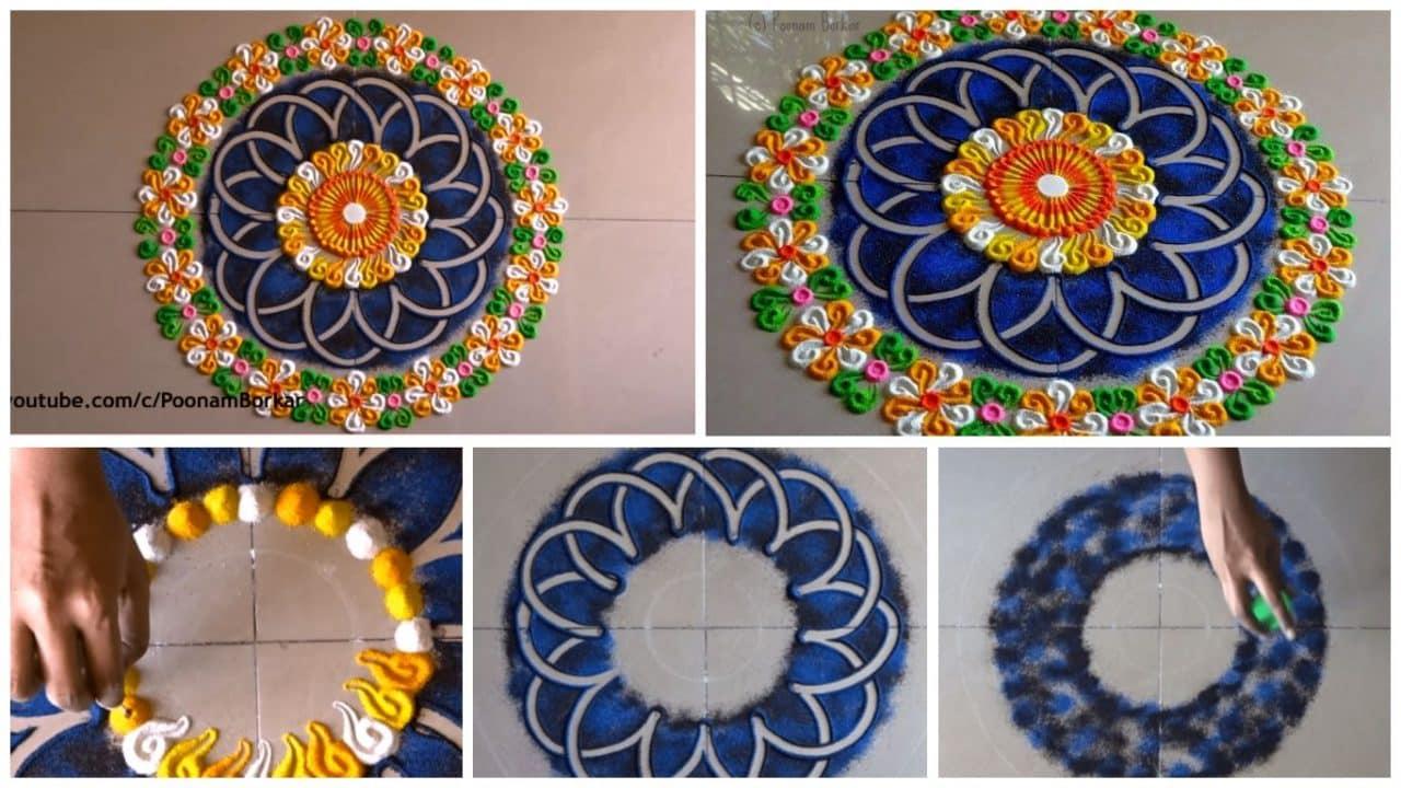 Beautiful And Unique Rangoli Design Simple Craft Ideas