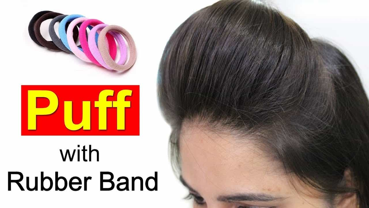 Front puff for thin hair with a rubber band – Simple Craft Ideas