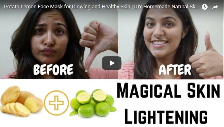Potato lemon face mask for glowing and healthy skin