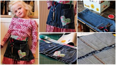 craft apron from old jeans