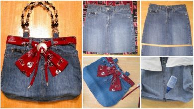 denim skirt handbag