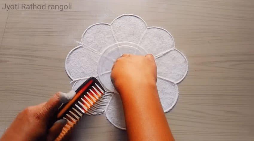 beautiful easy simple rangoli