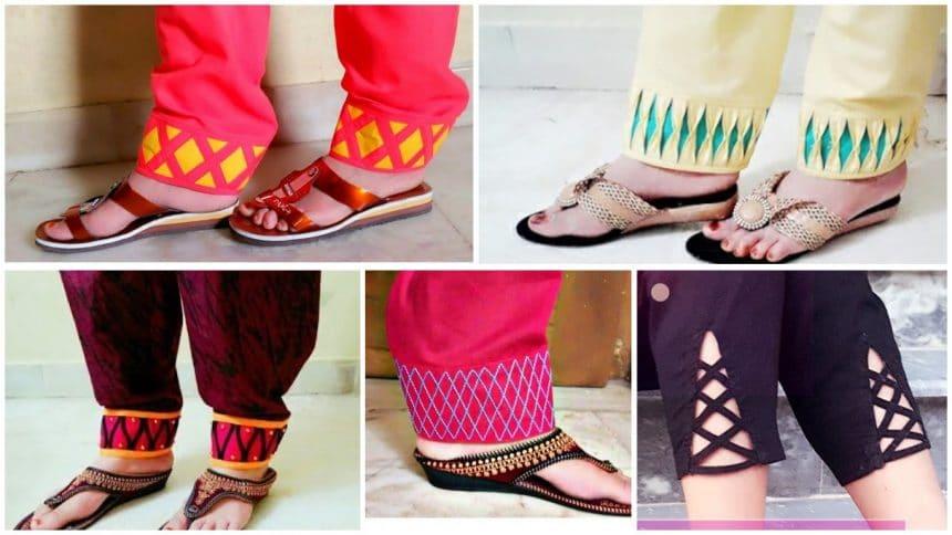 Beautiful salwar's mohri design stitching