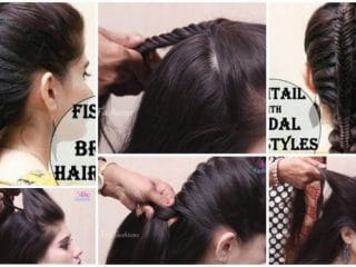 Fishtail and french hairstyles for ladies