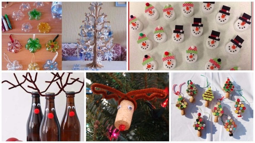 christmas decorations with recycled material 25 ideas - Recycled Christmas Decor