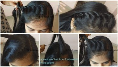 Twisted puffy hairstyle with side swept ishtail