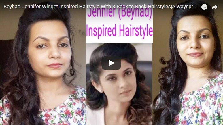 Beyhad jennifer winget inspired hairstyle