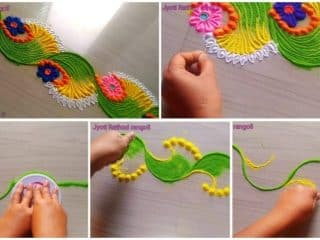 Super easy beautiful rangoli design