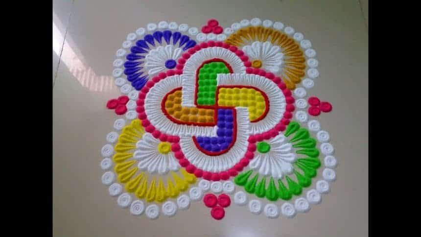 How To Make Beautiful Innovative Multi Colour Rangoli Simple Craft Ideas