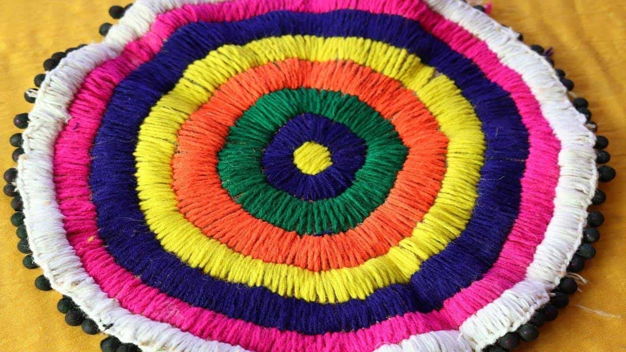 Doormat from waste materials simple craft ideas for Simple waste material craft