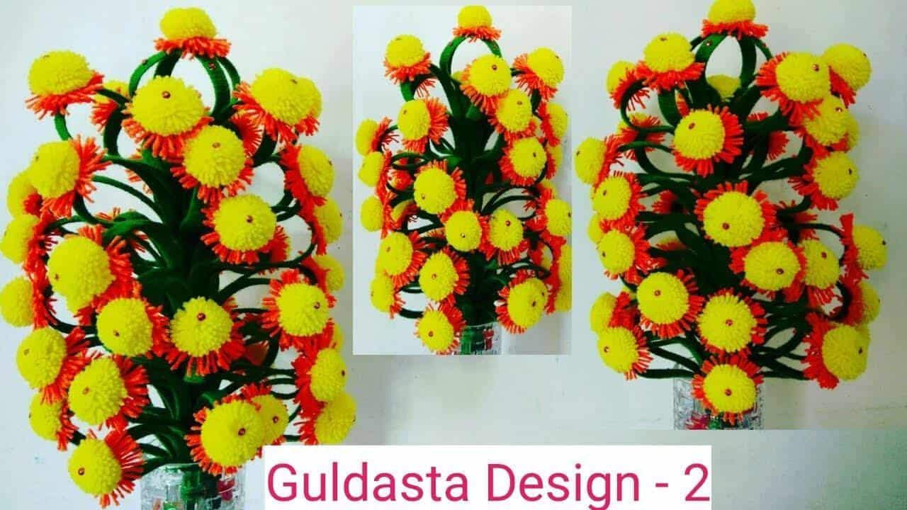 how to make sun flower guldasta   simple craft ideas