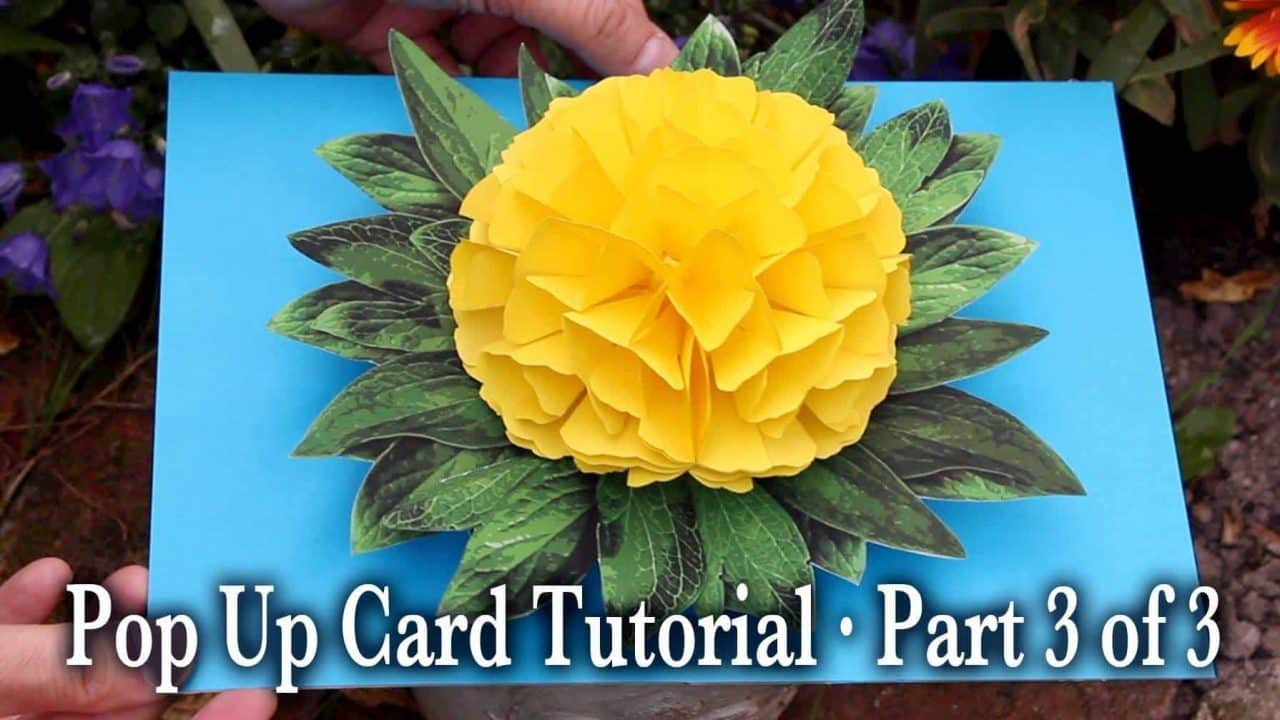 How to make flower pop up card simple craft ideas for Pop design flower