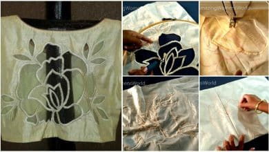 rose cut work for blouse