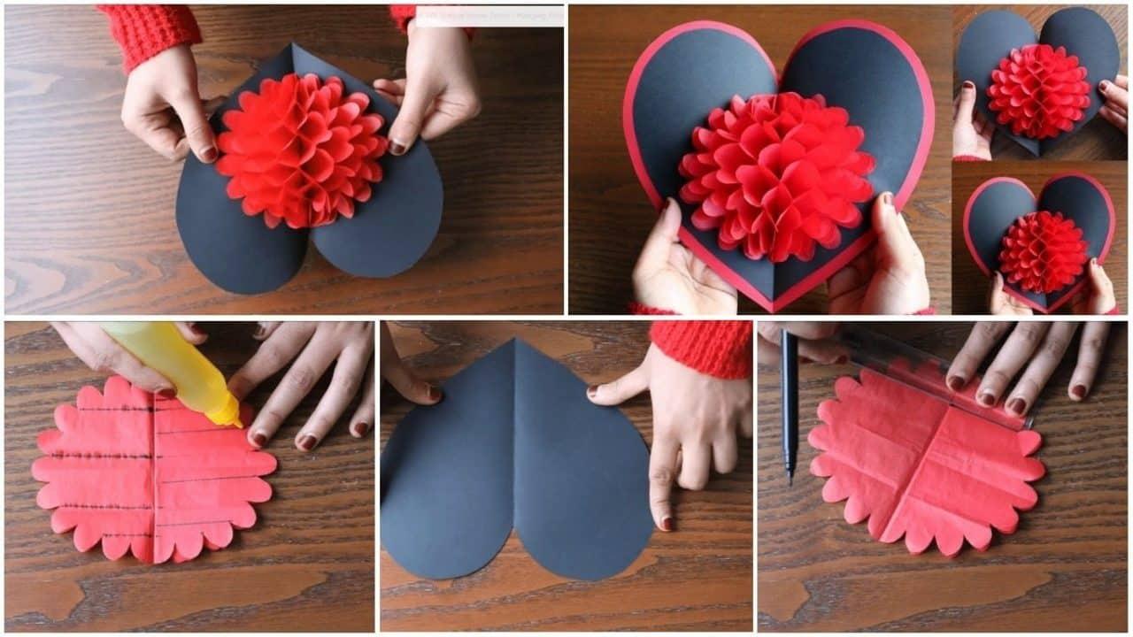 Simple craft idea how to make flower pop up card mightylinksfo
