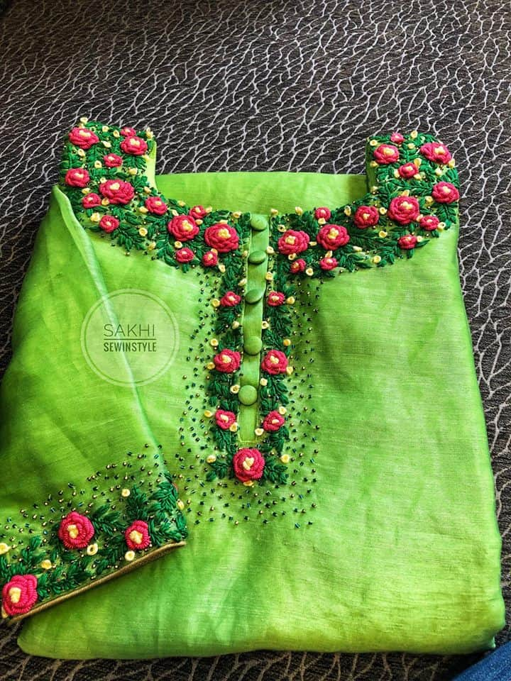 How To Make Bullion Rose For Kurti Neck Simple Craft Ideas