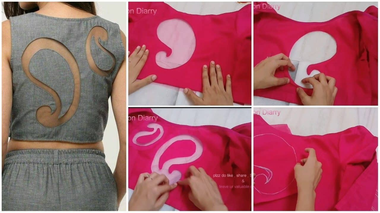 Convert your old blouse back to latest back design