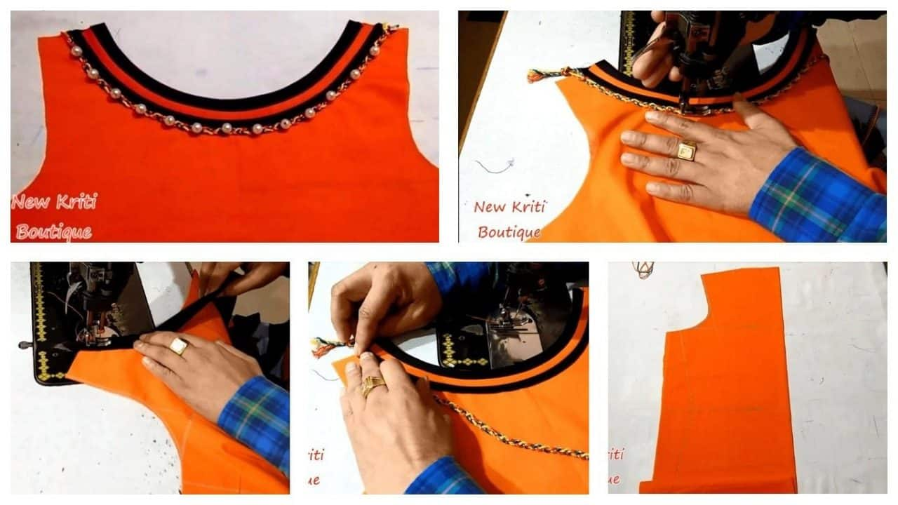 Simple and latest boat neck design cutting and stitching