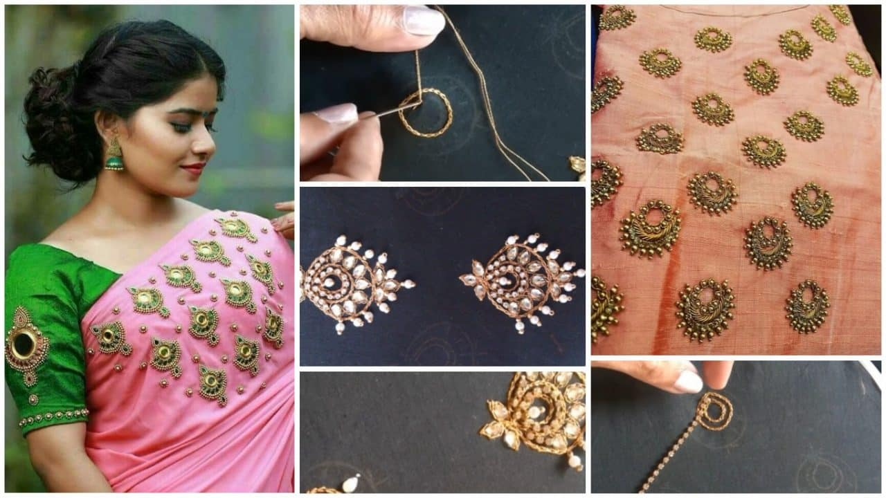 Jewellery embroidery for kurti,blouse and saree