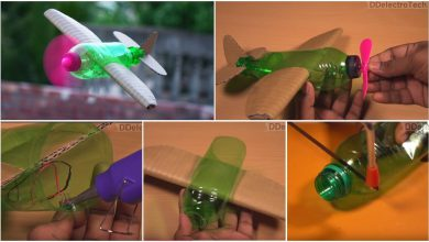 flying airplane using plastic bottle