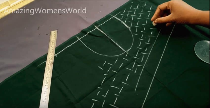 Easy hand embroidering pattern on kurti