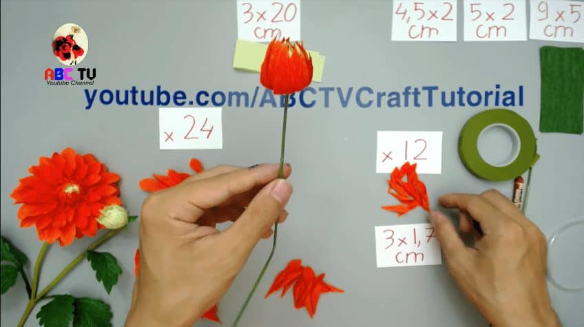 dahlia paper flower