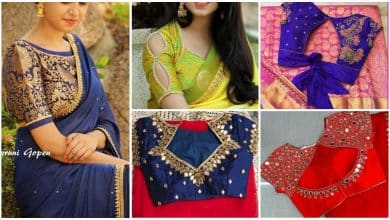 Trendy saree blouse