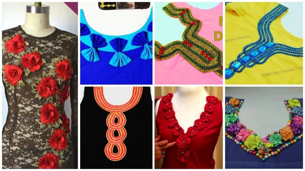 How To Decorate Kurthi Neck Simple Craft Ideas