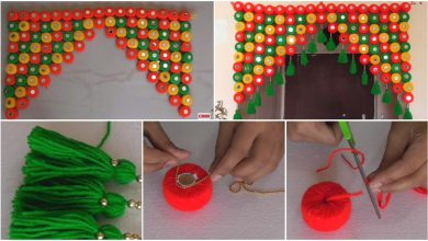How to make door hanging toran