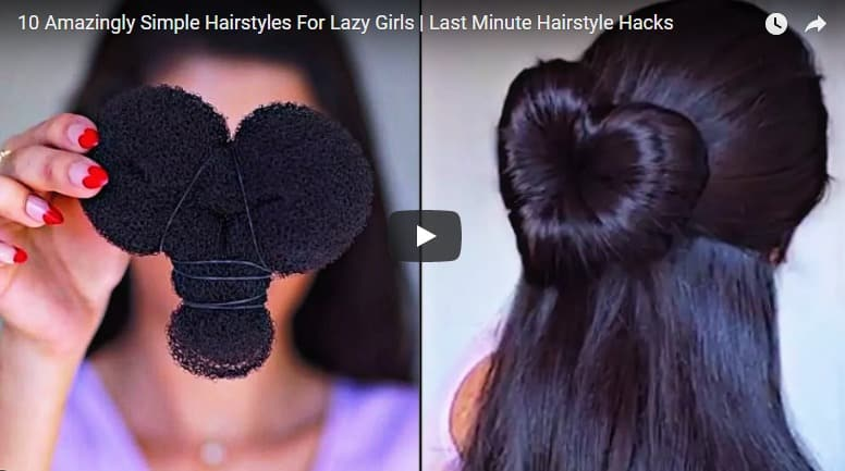 10 Amazingly simple hairstyles for lazy girls