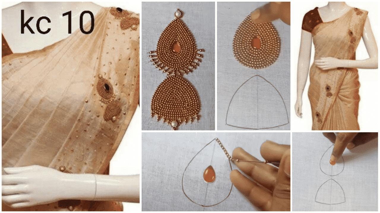 Jumukkas design tutorial for saree and kurti