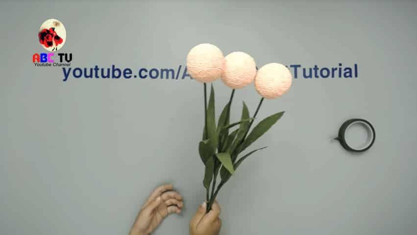 flower from foam beads
