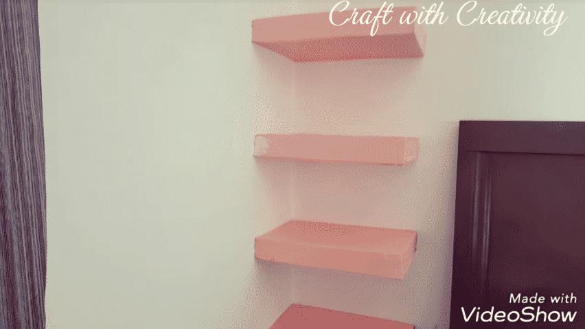 cardboard corner shelf