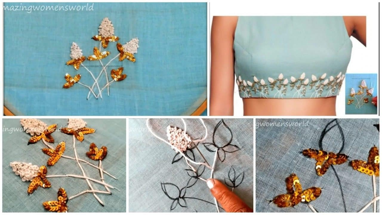 Fancy aari embroidery design crop tops
