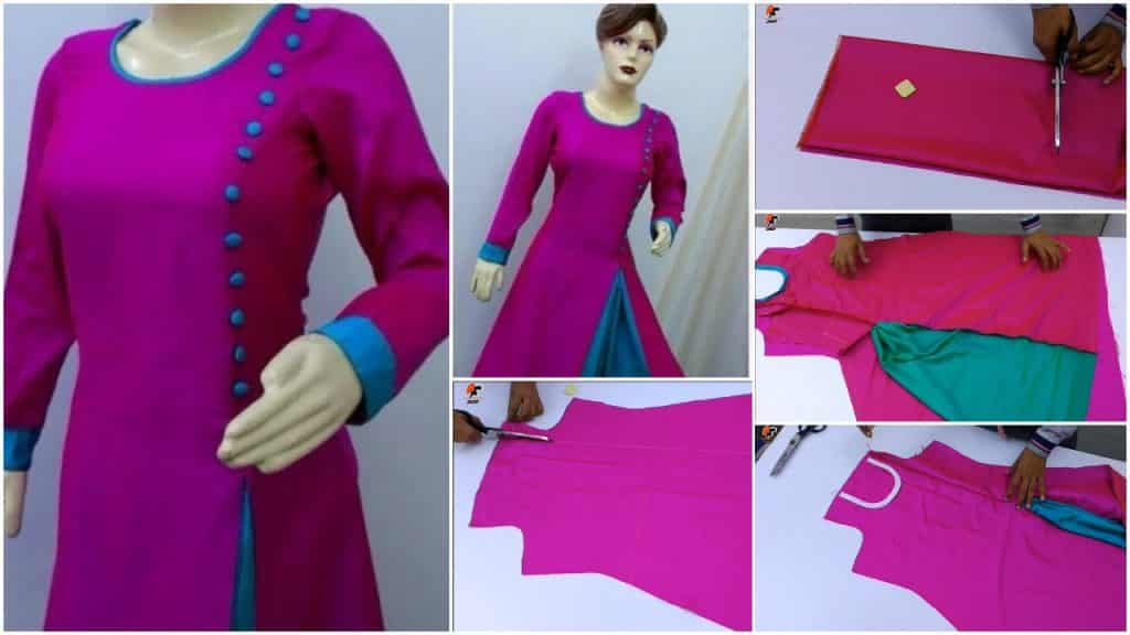 How to make gown kurti cutting and stitching