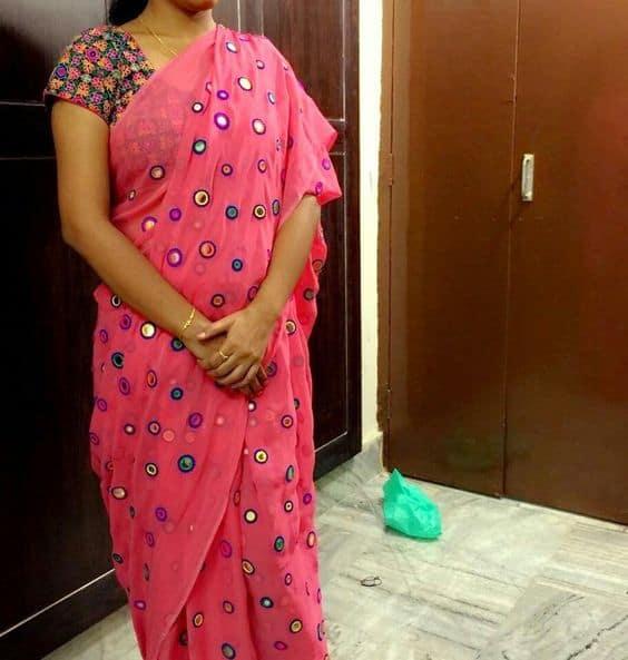 Trendy saree blouses designs simple craft ideas for Sari furniture designer