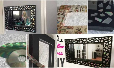 How to make glam mosaic mirror