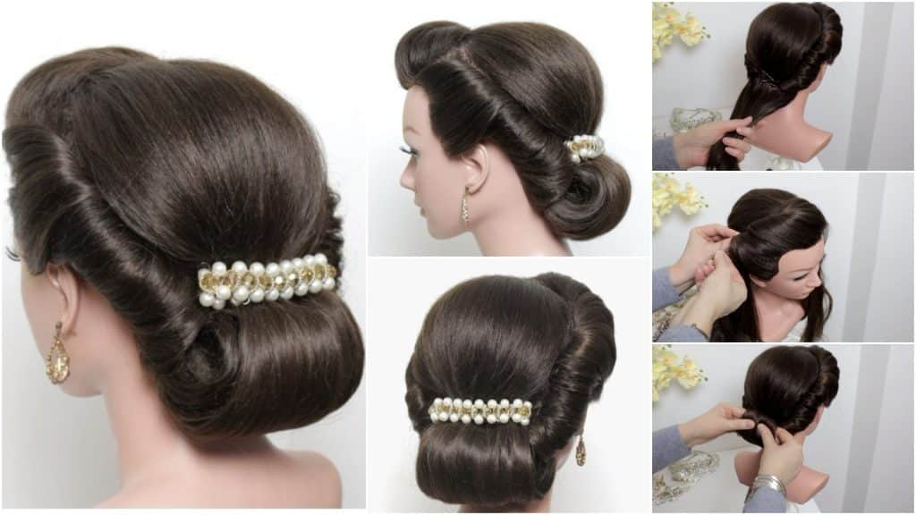 Rolled hairstyle for long and medium hair tutorial