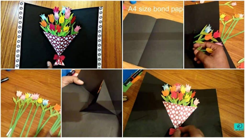 bouquet pop up card