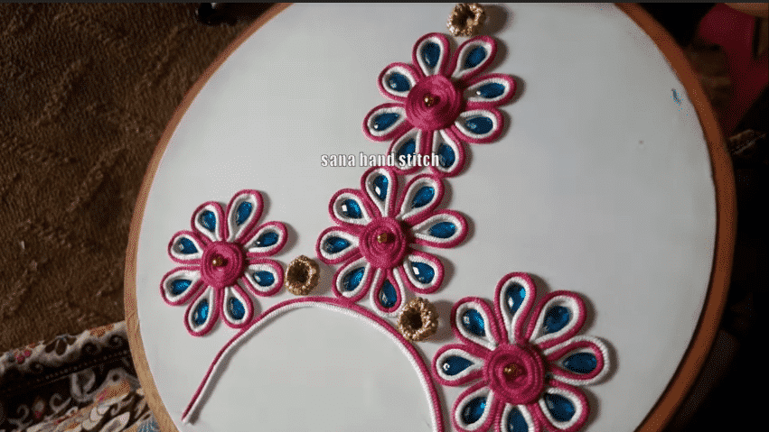 New Neck Dori Hand Stitch Embroidery Designs ArtsyCraftsyDad
