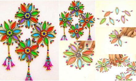 How to make beaded and hair clip wall hanging
