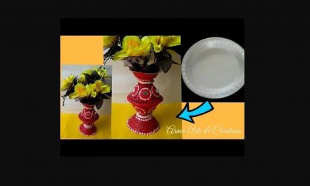Flower vase made of thermocol plate