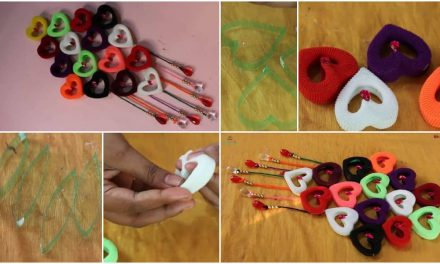 How to make wall hanging from hair rubber bands