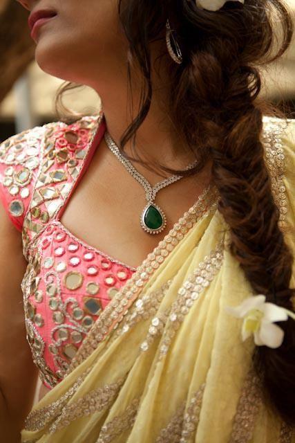 Mirror work blouse designs