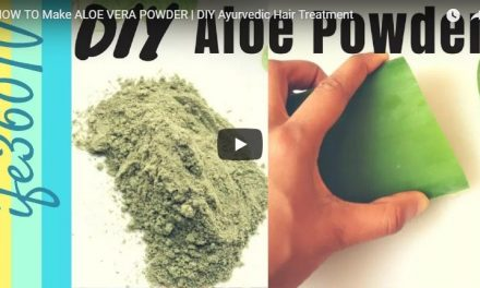 How to make alovera powder for hair care regimen and treatments
