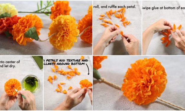 How to make marigold paper flowers