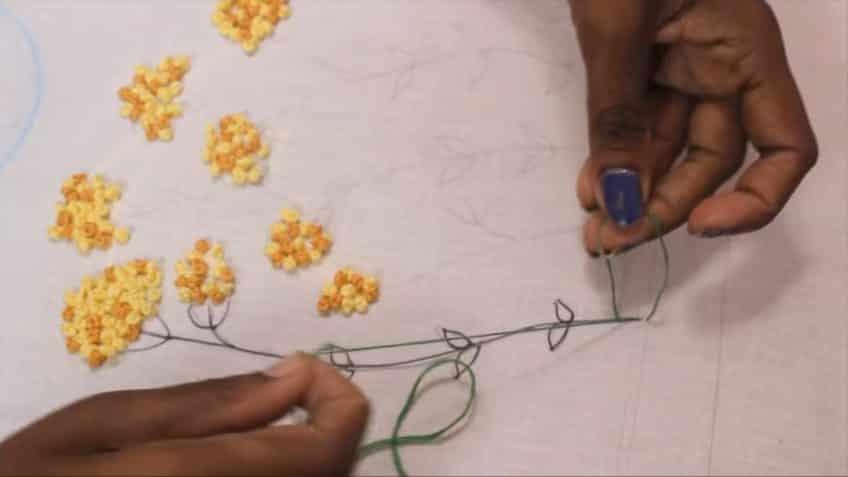 embroidering for chudidar